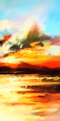风景印象派油画