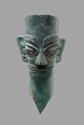 立鬓笄发青铜人像