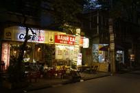 越南海防市-城市街道夜景