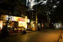 越南海防市街道夜景