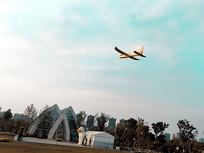 天空的飞机模型