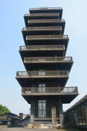 成都西来古镇标志建筑-临溪塔