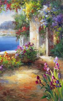 地中海风景欧式油画