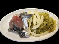 餐厅生食材摆盘-雪菜海鱼