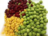 餐厅生食材-红黄绿豆