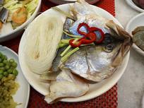 农家生菜摆盘-粉丝鱼头