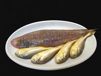 农家生菜摆盘-海产小黄鱼