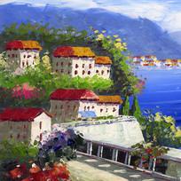 地中海风格壁画