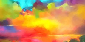 灵感创意天空抽象画