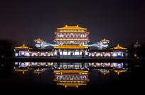 陕西西安大唐芙蓉园紫云楼夜景
