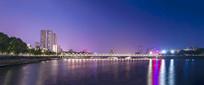 信阳关桥夜色全景