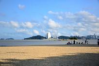 蓝天大海沙滩