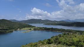 香港万宜水库大坝横构图