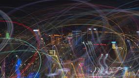 城市夜景特殊光