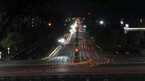 夜晚道路慢光效果