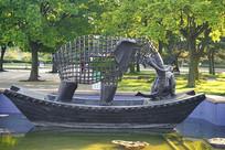 中国传统文化雕塑-曹冲称象
