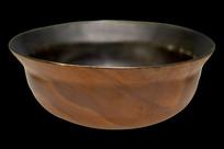 清道光木纹釉折腰碗
