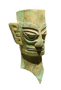 三星堆商代文物铜人头像