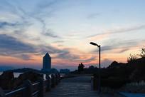 夕阳下的背景