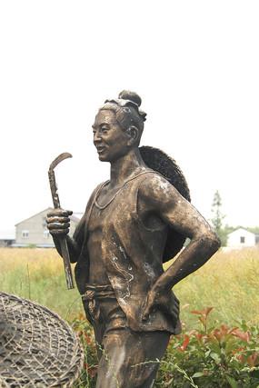 雕塑丰收男