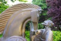 伯乐和千里马雕塑