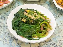 美味食品炝炒蒜泥菠菜