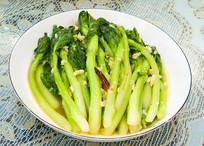 美味食品炝炒蒜蓉菜心