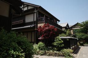 日式花园木屋