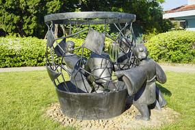 园林雕塑-司马光砸缸