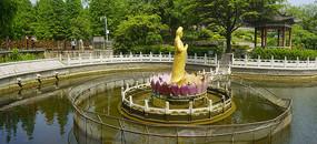 青岛湛山寺-莲花池观音菩萨像