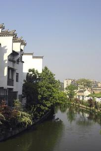 南京秦淮河及徽派民居