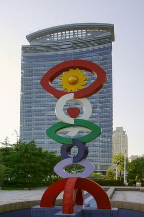 青岛海趣园雕塑及城市建筑