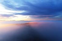 大兴安岭山林迷雾晨光