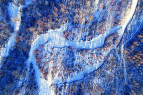 大兴安岭雪原森林冰河(航拍)