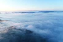 航拍大兴安岭林海云雾