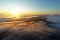 航拍大兴安岭云上日出