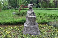 十二生肖雕塑之鼠雕刻