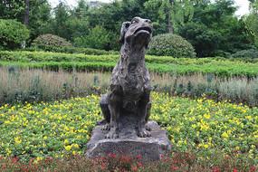 十二生肖雕塑之狗雕刻