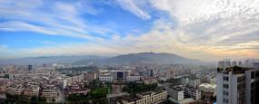 广东省揭阳市区全景图
