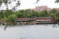 湖水边的风景一角