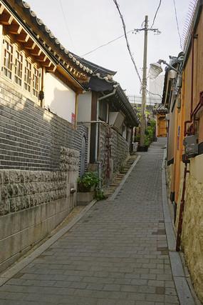 韩国北村韩屋村的传统韩屋