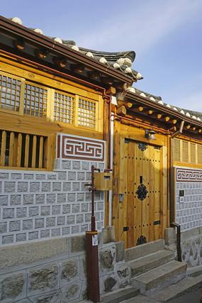 韩国北村韩屋村的传统住宅