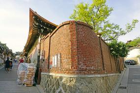 韩国北村韩屋村的小街