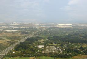 鸟瞰成都双流机场航空港地区