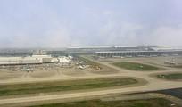 上海浦东国际机场俯拍