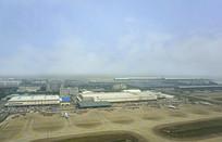 上海浦东国际机场鸟瞰