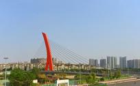 成都世纪城路-府河大桥全景图