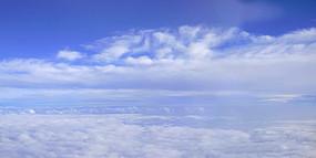 航拍云层风光