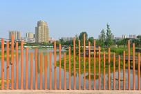 成都欣长向云桥红色栏杆