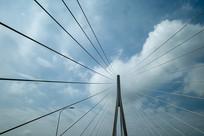 斜拉桥桥柱横构图